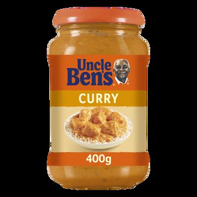 Sauce curry à cuisiner aux légumes et lait de coco UNCLE BEN'S, bocalde 400g