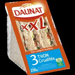 Sandwich triangle XXL thon crudités DAUNAT, 230g