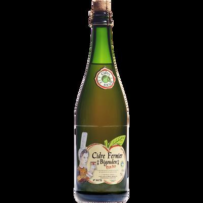 Cidre fermier Bigouden Le Brun, 4°5, bouteille de 75cl