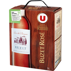 Vin rosé AOP Buzet Roc de Breyssac U, fontaine à vin de 3l