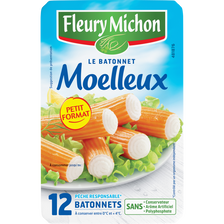 Bâtonnets moelleux saveur crabe FLEURY MICHON, boite de 200g