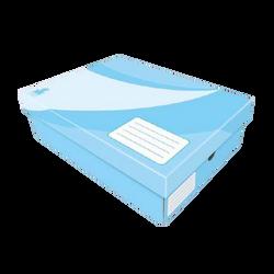 Boîte de rangement 34x10x26cm x4-pour documents A4 et 24x32