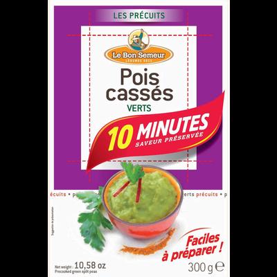 Pois cassés verts précuit 10min LE BON SEMEUR, 300g