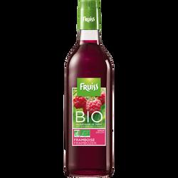 Sirop à la framboise bio FRUISS BIO, bouteille de 500ml