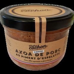 Axoa de porc au piment d'espelette MAITRE COCHON, verrine de 375g
