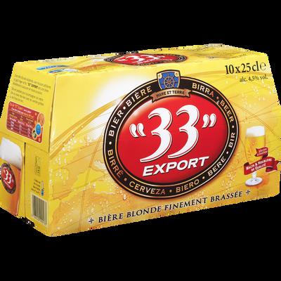 Bière blonde 33 EXPORT, 4,5°, 10x25cl