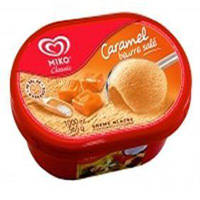 Crème glacée MIKO 1L, parfum caramel beurre salé