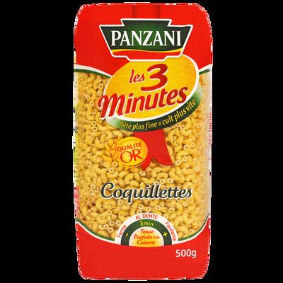 Coquillettes cuisson rapide PANZANI, paquet de 500g