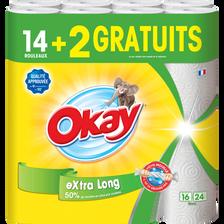 Okay Essuie-tout Blanc Xxl , 14 Rouleaux + 2 Rouleaux Gratuits