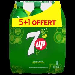 SEVEN UP pet 5x1,5 litre + 1 offert Format familial