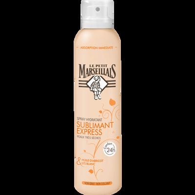 Spray hydratant sublimant express huile d'abricot/lys blanc LE PETIT MARSEILLAIS, spray de 200ml
