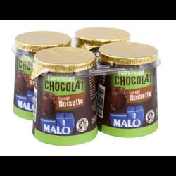 Empresure chocolat noisette MALO, 4 pots de 125g