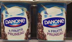 Yaourts fruits pruneau, DANONE, 4x125g