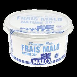 Fromage frais nature au lait pasteurisé MALO, 20%mg, 500g