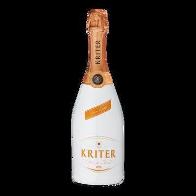 Vin mousseux de qualité demi-sec KRITER ICE, bouteille de 75cl