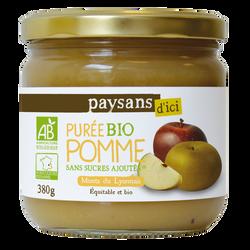 Purée de fruits pomme monts du lyonnais bio 380g