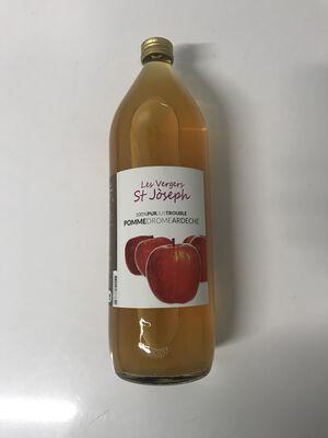Pur jus de pomme trouble Drôme Ardèche 1L Les vergers de saint joseph