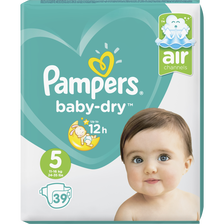 Pampers Couches Baby Dry Junior , Taille 5, 11 À 23kg, X39