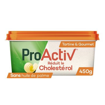 Fruit d'Or Margarine Allégée Cuisson Et Tartine Sans Huile De Palme Pro Activ Expert, 55%mg, 450g