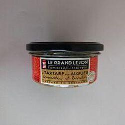 LE TARTARE AUX ALGUES tomates et basilic DU GRAND LEJON