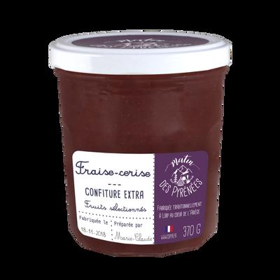 Confiture extra fraise cerise MATIN DES PYRENEES, 370g