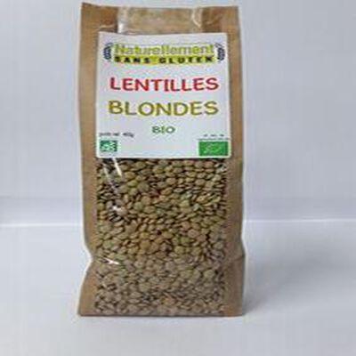 Lentilles blondes NATURELLEMENT SANS GLUTEN 400g