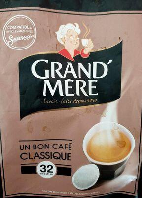 Café classique GRAND MERE, 32 dosettes soit 211g