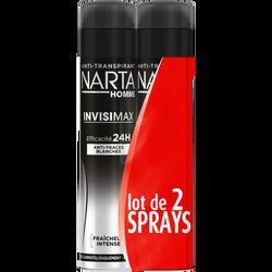 Déodorant homme invisimax NARTA, 2x200ml