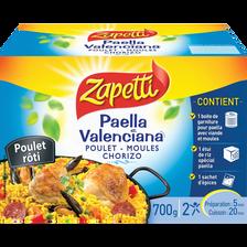 Paëlla Valenciana au poulet, fruits de mer et chorizo ZAPETTI, 700g