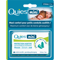 Protection auditive mousse mini QUIES, 8 paires