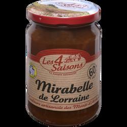 Confiture artisanale mirabelle de Lorraine 4 SAISONS, 360g