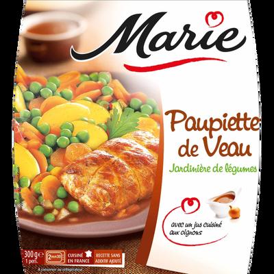 Paupiette de veau et jardinière de légumes MARIE, 300g