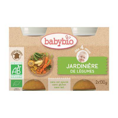 Pot Jardinière de Légumes BABYBIO dès 4 mois 2x130g
