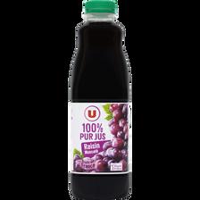 Pur jus raisin rouge muscaté U, bouteille de 1l