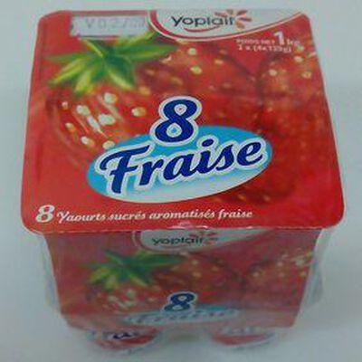 YAOURT AROME FRAISE 8X125G