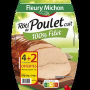 Fleury Michon Rôti De Poulet Cuit Fleury Michon, 4 + 2 Offertes, 240g