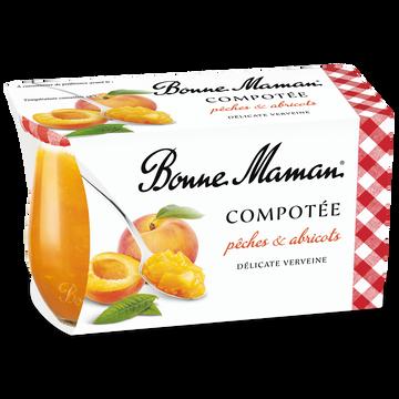 Bonne Maman Compotée De Pêches Et Abricots À La Verveine Bonne Maman, 2x130g