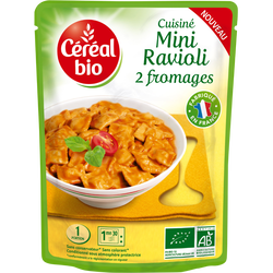 Doy minis raviolis 2 fromages CEREAL BIO, 250g
