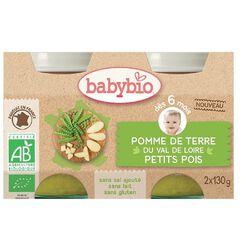 Pot Petit pois Pomme de terre BABYBIO dès 6 mois 2x130g