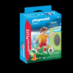 Playmobil Spécial Plus - Joueur de foot et but - 70157 - Dès 4 ans