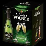 Charles Volner Vin Mousseux Qualité Blanc De Blanc 1/2sec Charles Volner, 6x75cl