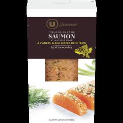 """C ur de filet de saumon Atlantique fumé à l""""aneth et zestes de citronSaveurs U, 150g"""