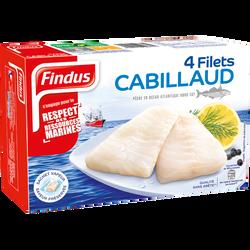Filets de cabillaud FINDUS, x4 soit 100g
