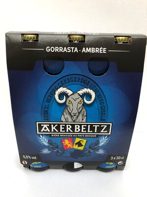 BIERE AKERBELTZ AMBREE 3*33CL