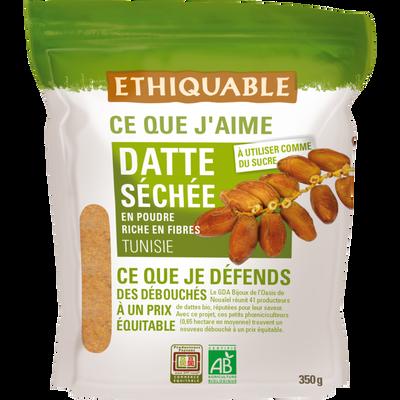 Datte séchée poudre tunisie bio ETHIQUABLE, 350g