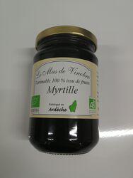 Tartinable 100% issu de fruits Myrtille bio Le mas de Vinobre 320g