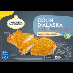 Colin d'Alaska en croûte MSC sauce hollandaise brunoise de légumes FRANCAISE DE GASTRONOMIE, 800g