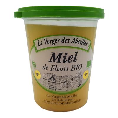 Miel de fleurs bio LE VERGER DES ABEILLES, 500g
