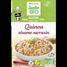 Quinoa graines toastees sans gluten JARDIN BIO,  300 g