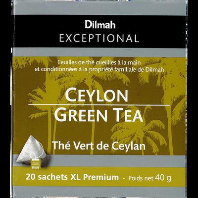 Thé vert de Ceylan DILMAH, sachet de 40g